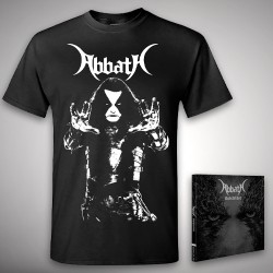 Abbath - Outstrider + Blasphemia - CD + T Shirt bundle (Men)