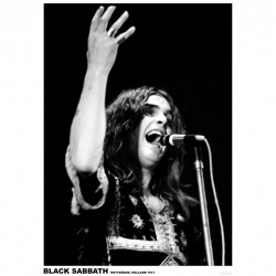 Black Sabbath - Ozzy Osbourne Holland 1971 - Standard Poster