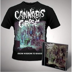 Cannabis Corpse - From Wisdom to Baked (Black) - CD + T Shirt bundle (Men)