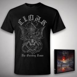 Cloak - The Burning Dawn + Wings - CD DIGIPAK + T Shirt bundle (Men)