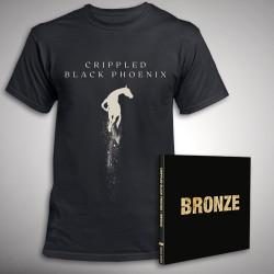 Crippled Black Phoenix - Bronze (Deluxe) + Great Escape - CD DIGIPAK + T Shirt bundle (Men)