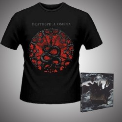 Deathspell Omega - The Synarchy of Molten Bones + Paracletus Snake - CD DIGIPAK + T Shirt bundle (Men)