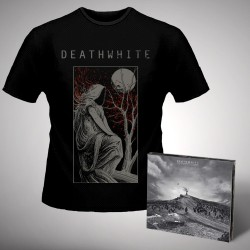 Deathwhite - For A Black Tomorrow + The Night Martyr - CD DIGIPAK + T Shirt bundle (Men)