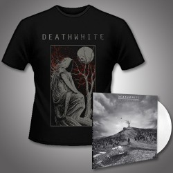 Deathwhite - For A Black Tomorrow + The Night Martyr - LP Gatefold Colored + T shirt Bundle (Men)