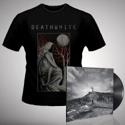 Deathwhite - For A Black Tomorrow + The Night Martyr - LP Gatefold + T Shirt Bundle (Men)