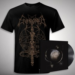 Enthroned - Cold Black Suns Ink Bundle - LP Gatefold + T Shirt Bundle (Men)