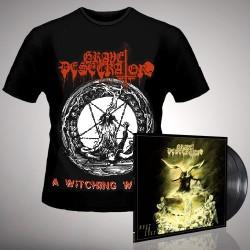 Grave Desecrator - Dust to Lust + A Witching Whore - DOUBLE LP GATEFOLD + T Shirt Bundle (Men)