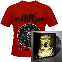 Grave Desecrator - Dust to Lust + Praise the Darkness - DOUBLE LP GATEFOLD + T Shirt Bundle (Men)
