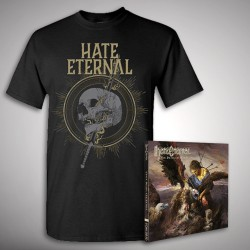 Hate Eternal - Upon Desolate Sands + Sword & Skull - CD + T Shirt bundle (Men)
