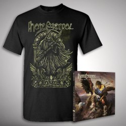 Hate Eternal - Upon Desolate Sands + The Reaper - CD + T Shirt bundle (Men)