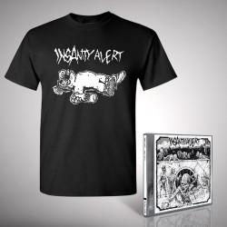 Insanity Alert - 666-Pack + Alf Wasted - CD + T Shirt bundle (Men)