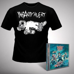 Insanity Alert - Insanity Alert + Alf Wasted - CD + T Shirt bundle (Men)