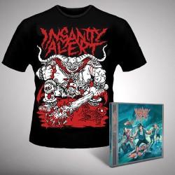 Insanity Alert - Insanity Alert + Lord - CD + T Shirt bundle (Men)