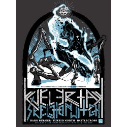Kvelertak - Kvelertak / Skeletonwitch / Barn Burner / Turbid North / Battlecross - Screenprint