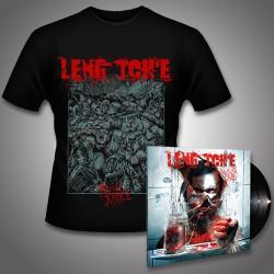 Leng Tch'e - Razorgrind + Mosh Justice - LP Gatefold + T Shirt Bundle (Men)