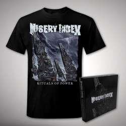 Misery Index - Rituals of Power Bundle - CD BOX Collector + T Shirt (Men)