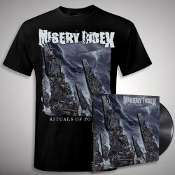Misery Index - Rituals of Power Bundle - LP + T shirt Bundle (Men)