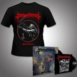 """Nocturnal Graves - Satan's Cross + Legions of Satan - LP + 10"""" + T Shirt Bundle (Men)"""