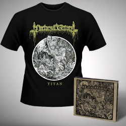 Nocturnal Graves - Titan - CD DIGIPAK + T Shirt bundle (Men)