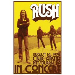 Rush - Live 1974 - Standard Poster