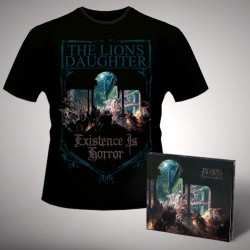 The Lion's Daughter - Existence is Horror - CD DIGIPAK + T Shirt bundle (Men)