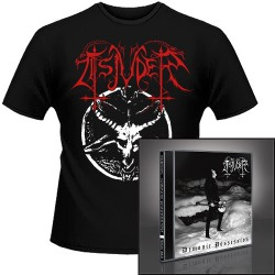 Tsjuder - Demonic Possession + Chainsaw Black Metal - CD + T Shirt bundle (Men)