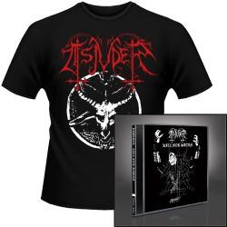 Tsjuder - Kill for Satan + Chainsaw Black Metal - CD + T Shirt bundle (Men)