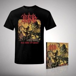 Urn - Iron Will of Power Bundle - CD DIGIPAK + T Shirt bundle (Men)