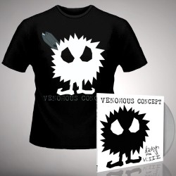 Venomous Concept - Kick Me Silly; VC3 - LP Gatefold Colored + T shirt Bundle (Men)