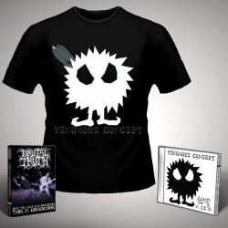 Venomous Concept - Kick Me Silly; VC3 + For the Ugly - CD + DVD + T Shirt bundle (Men)