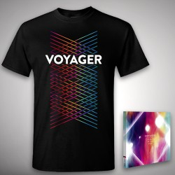 Voyager - Colours in the Sun + Lines - CD + T Shirt bundle (Men)