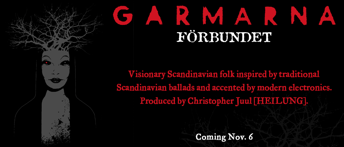 The visionary folk sounds of Sweden's GARMARNA marry the past to the present on their captivating new album 'Förbundet.' 'Förbundet' (Swedish for connected) is an especially apt title as their songs, inspired by traditional Swedish folk music and Scandinavian ballads, are played by acoustic instruments but accented by a flourish of modern electronics (beats, loops and samples). The album, led by Emma Härdelin's spellbinding vocals and aided by the rich production of Christopher Juul (HEILUNG), see the Grammis (Swedish Grammy) winning group operating at the heights of their powers. GARMARNA have persevered for nigh on four decades now, and 'Förbundet' further secures their legacy as one of the worldwide leaders of traditional Scandinavian folk music.