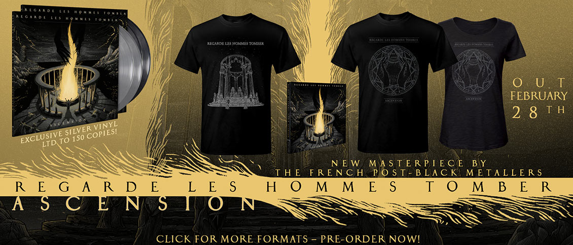 REGARDE LES HOMMES TOMBER step outside of the proverbial confines of black metal with 'Ascension,' ultimately creating dramatic soundscapes enveloped in extremity. Layered with grandiose riffage, agonizing vocals, and pockets of ambient progression, the French outfit put forth an offering that devours the listener with sweeping crescendos of blackened intensity.