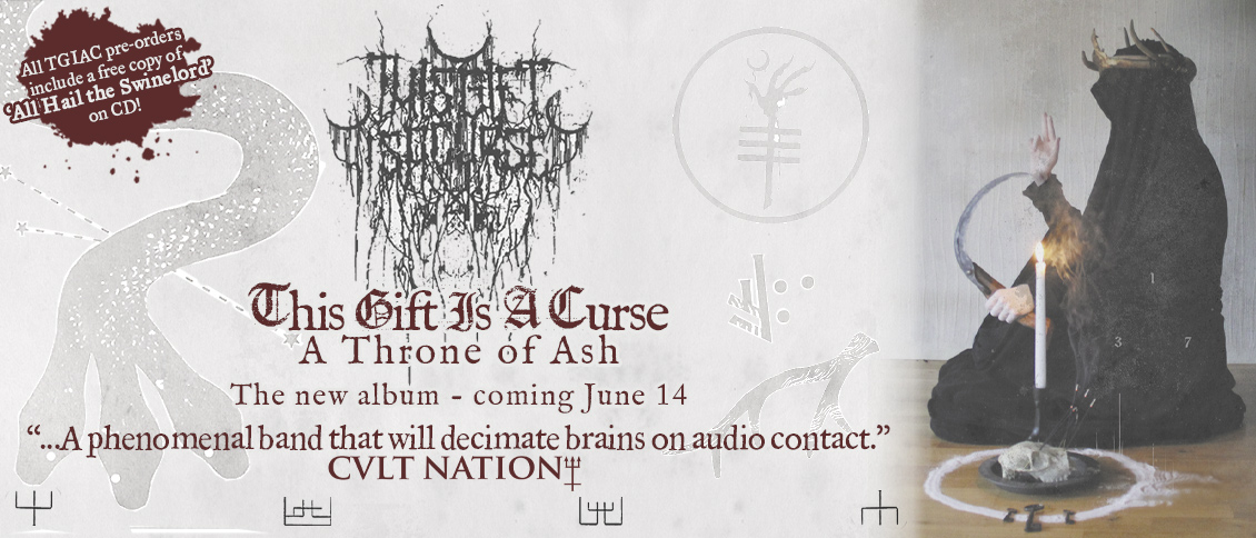THIS GIFT IS A CURSE return with their deadly new album, 'A Throne of Ash.' The quintet unleash a destructive modern synthesis that pulls from the sub-genres of metallic extremity; the ice-cold veneer of black metal, the cacophonous thunder of noise-core, and the vicious attack of grind/crust. THIS GIFT IS A CURSE are utterly ferocious, and 'A Throne of Ash' is a maelstrom of swirling blackened noise from the gaping mouth of madness.